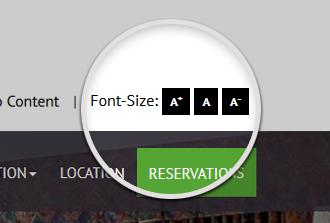 Font Size ADA Widget