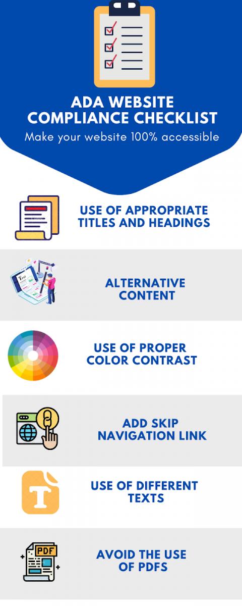 ADA Website Compliance Checklist